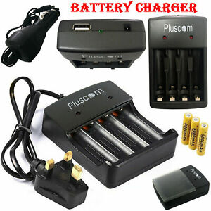 18650-Li-ion-Battery-Charger-UK-Plug-Rechargeable-4-Slots-for-4X-3-7v-Batteries