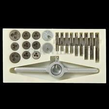 30 PCS Mini Tap and Die Wrench Set M1 M1.1 M1.2 M1.4 M1.6 M1.8 M2 M2.2 M2.5 Set