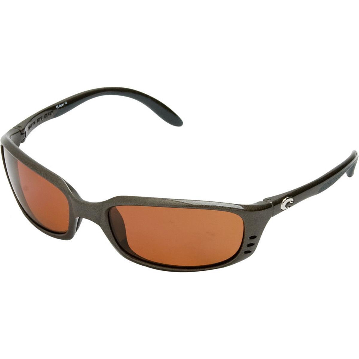Costa Del Mar Brine Polarized 580P Sunglasses Gunmetal Copper BR 22 OSCP NEW