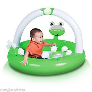 Bestway 52173 Spielcenter Baby Planschbecken Froggy Schwimmbecken Aufblasbares Kinderbadespaß