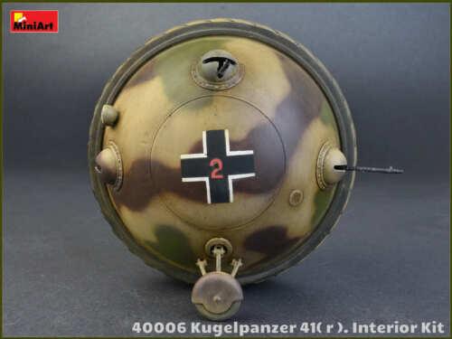 MiniArt 1//35 40006 WWII German Ball Tank Kugelpanzer 41 r Interior Kit