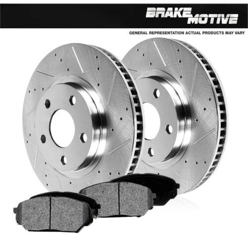 Front Drill And Slot Brake Rotors /& Metallic Pads For Lesabre Camaro Trans Am