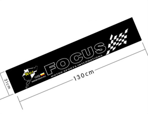 Auto Rear Front Windshield Reflective Banner Decal Sticker For FORD FOCUS SPORTS