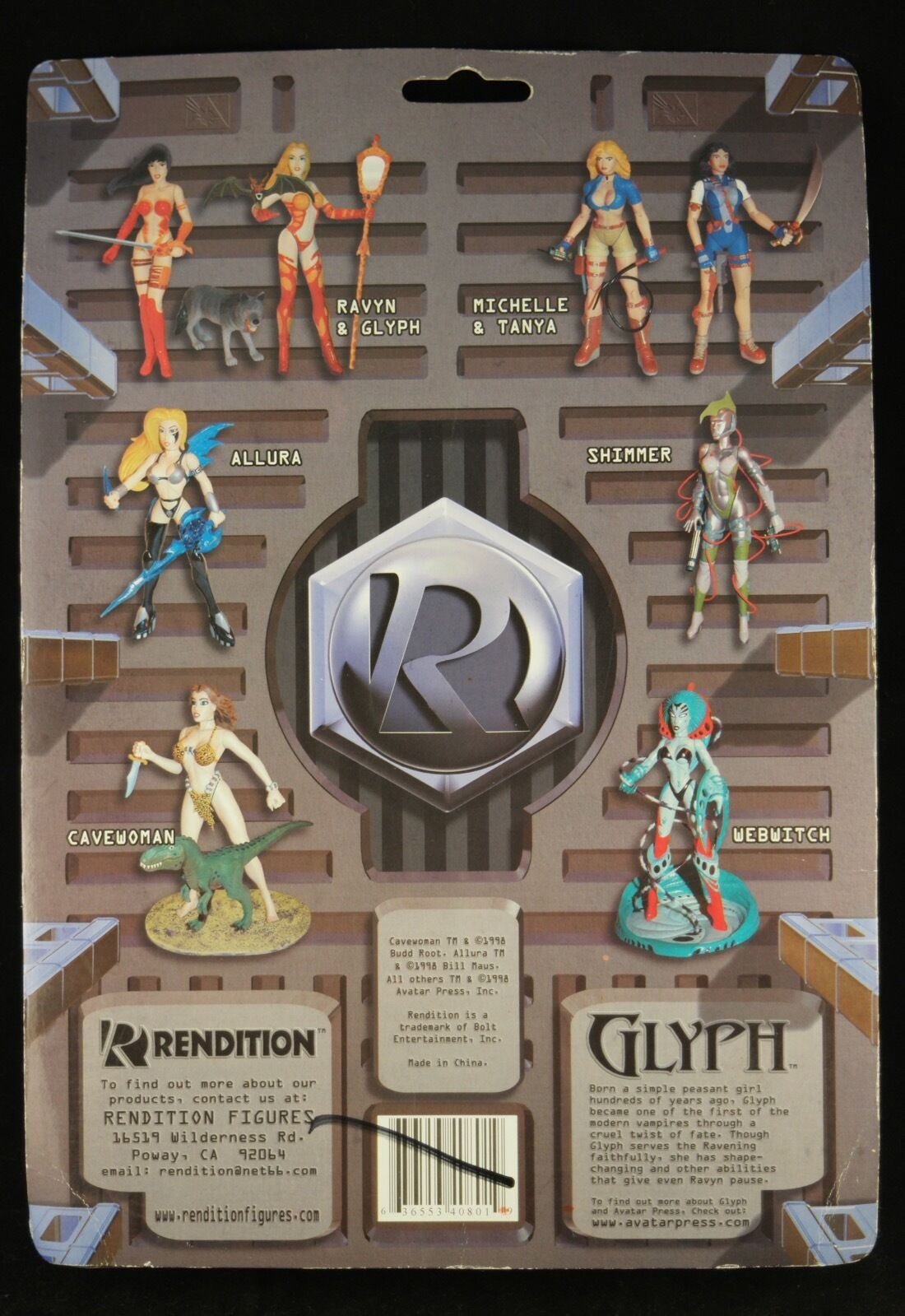 Rendition GLYPH 18cm figure from the comic book series THE