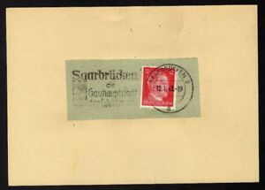 Allemagne-n-710B-Yv-flamme-WW2-SAARBRUCKEN-2-a-Timbre-Allemand-Mi-n-788