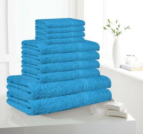 10 PC TOWEL BALE SET FACE-HAND 100/% COTTON SOFT BATH BATHROOM TOWEL SET