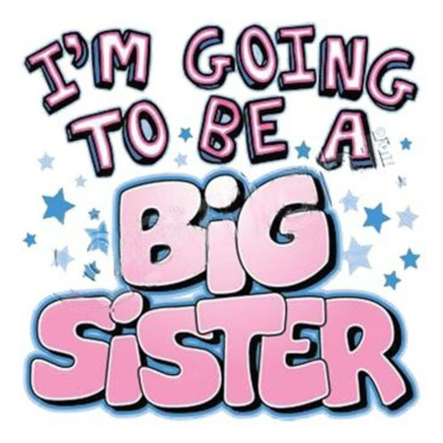 Youth XS-XL GIRLS NEW BABY SURPRISE I/'M GOING TO BE A BIG SISTER Toddler 2T-4T