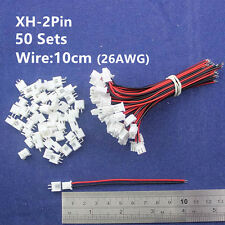 50sets 2pin 2.54mm Pitch 10cm 26AWG Wire Pin Header Housing Terminal Connector