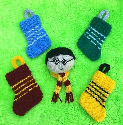 Harry Potter inspired 20cms Stocking with detachable 8cms toy KNITTING PATTERN