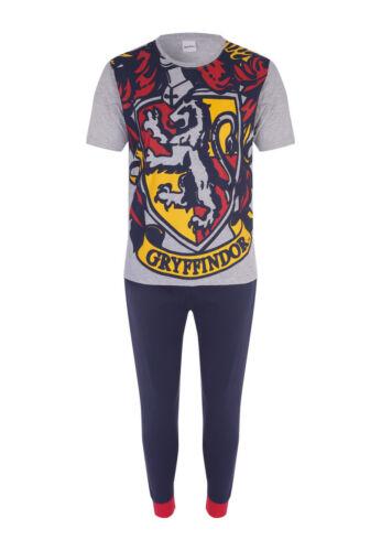 Mens Harry Potter Pyjamas Gryffindor T-Shirt Teenager Boys Lounge Pants M 5XL