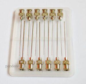"12pcs Blunt stainless steel dispensing syringe needle tips 1//2/""  17Gauge"