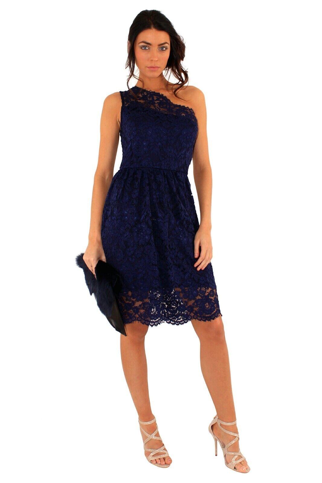 Rare One Shoulder Lace Skater Dress Dress Dress |  Neuer Markt  | Fuxin  62cbb8