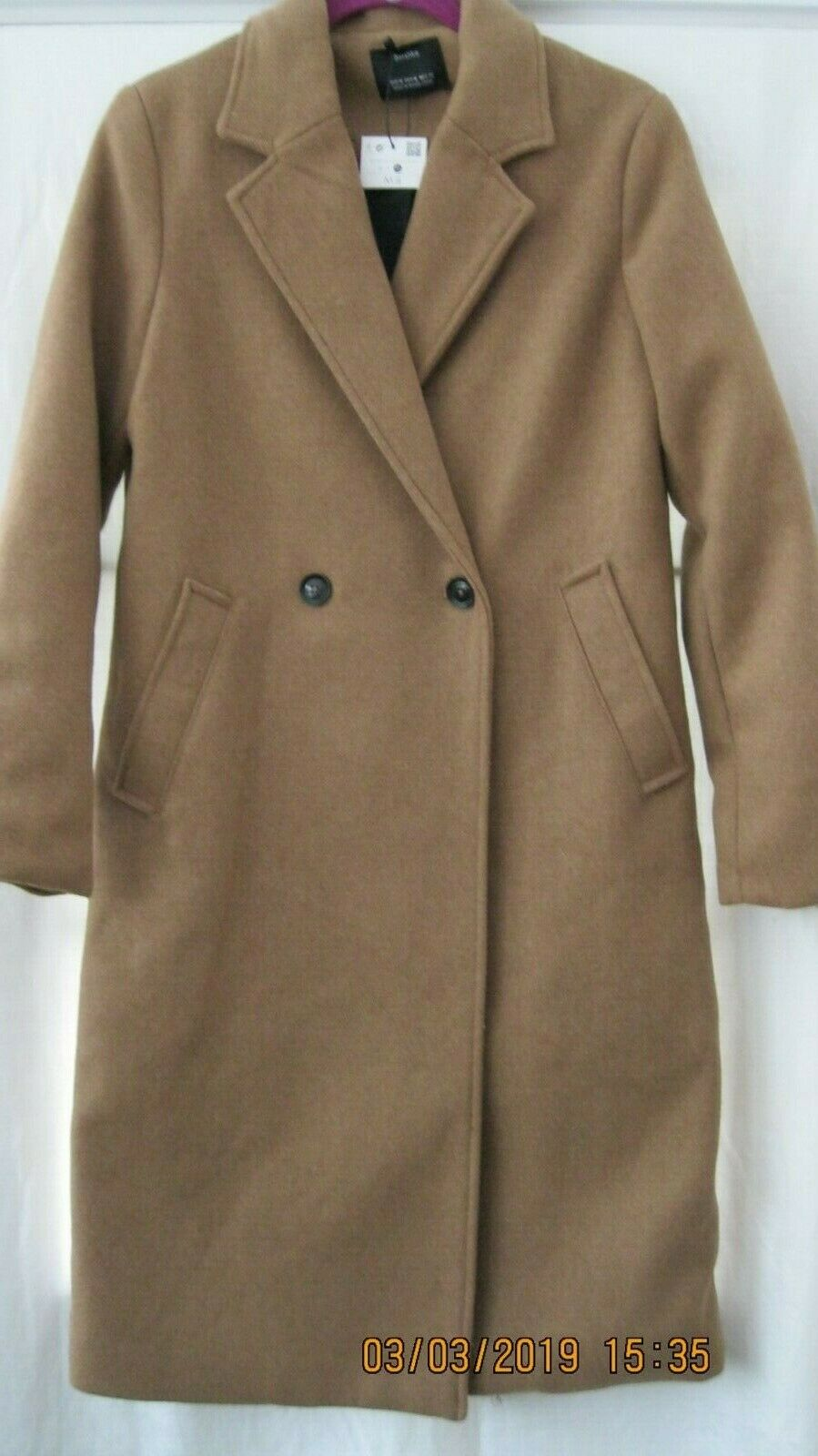 BERSHKA WOMANS BEAUTIFUL COAT SIZE M & ONE IN S ARE BOTH .NEW WITH TAGS A NICE A