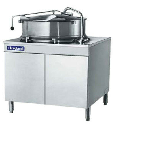 Cleveland KDM60T 60 Gallon Capacity Tilting Direct Steam Kettle W/ Cabinet  Base | EBay