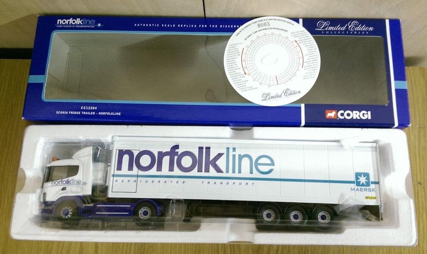 CORGI CC12204 SCANIA Frigo remorque NORFOLKLINE Ltd Edition No 0003 de 2200