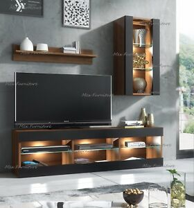 Lowboard Sideboard tv unit cabinet stand lowboard sideboard cupboard wall set sideboard