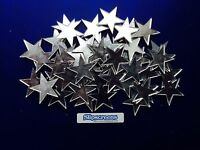 50 Acrylic mirror stars 2.5 cm , made in the uk, must have for any crafter