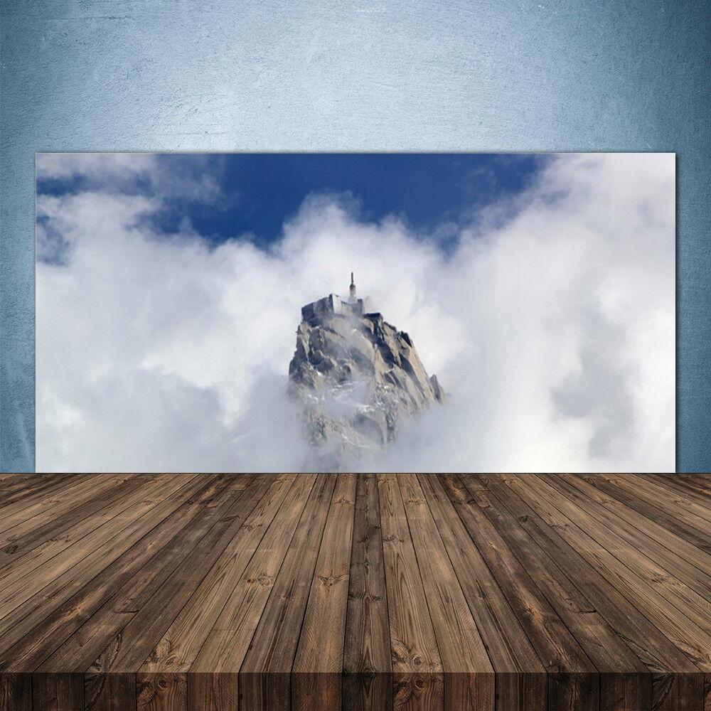 Crédence de cuisine en verre Panneau 140x70 Paysage Montagnes Nuages