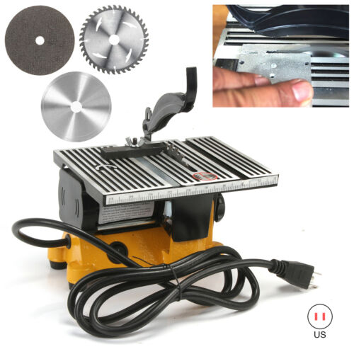 """Lion Tools 4/"""" 60W Electric Table Saw DIY Power Tool Work Bench Stand Circular"""