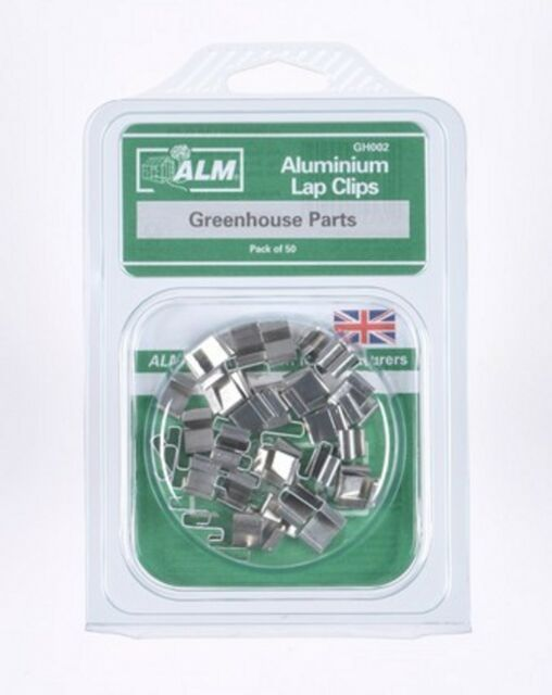 QTY 50 Greenhouse Parts ALM Aluminium Lap Clips GH002 Z clips