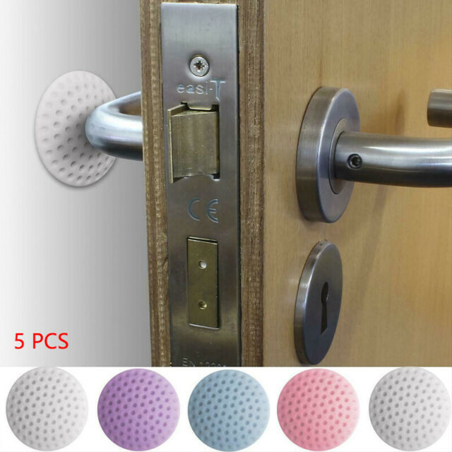 10 Pacakge Silicon Door Wall Protector Door Stopper Bumper Knob Shield Handle Guard Bumper Self Adhesive for Bedroom Office,Wall Kitchen