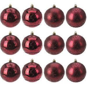 12er Set Weihnachtskugeln O8cm Christbaumkugeln Christbaumschmuck