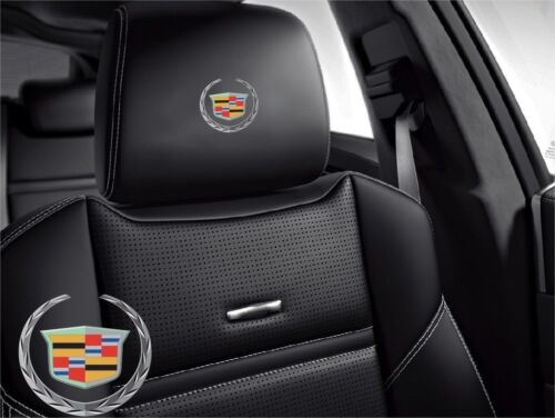 5x Cadilac Symbol logo for leather seats and other flat and smooth surfaces