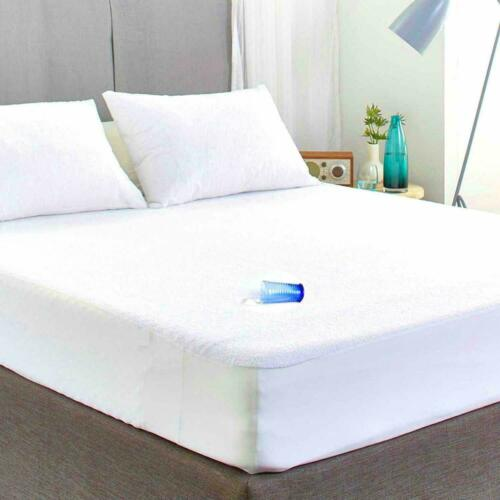 NON NOISY WATERPROOF TERRY TOWEL MATTRESS PROTECTOR FITTED SHEET COVER