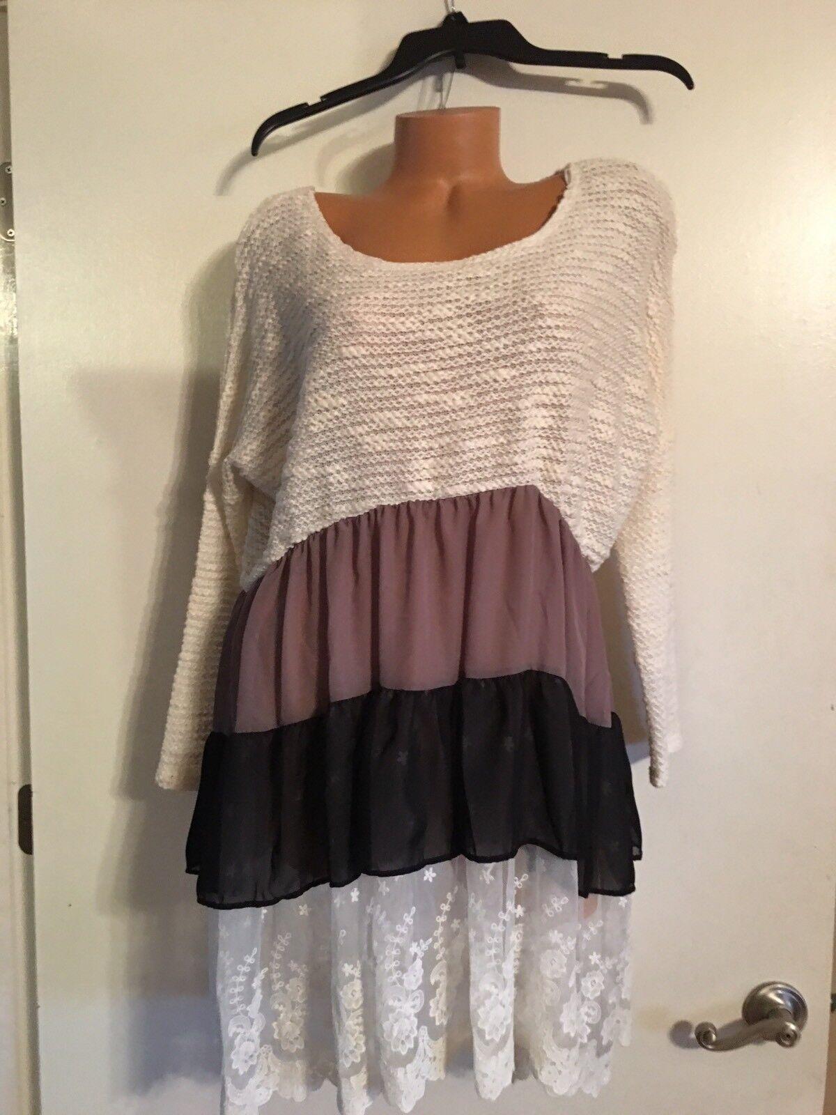 NWOT Bellamie Layer Boutique Dress Woherren Größe Medium Boat Neck Beautiful