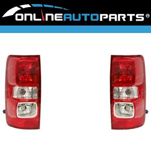 LH+RH Non-LED Tail Lights Pair for Holden Colorado RG 2012-on LX/LT Left Right
