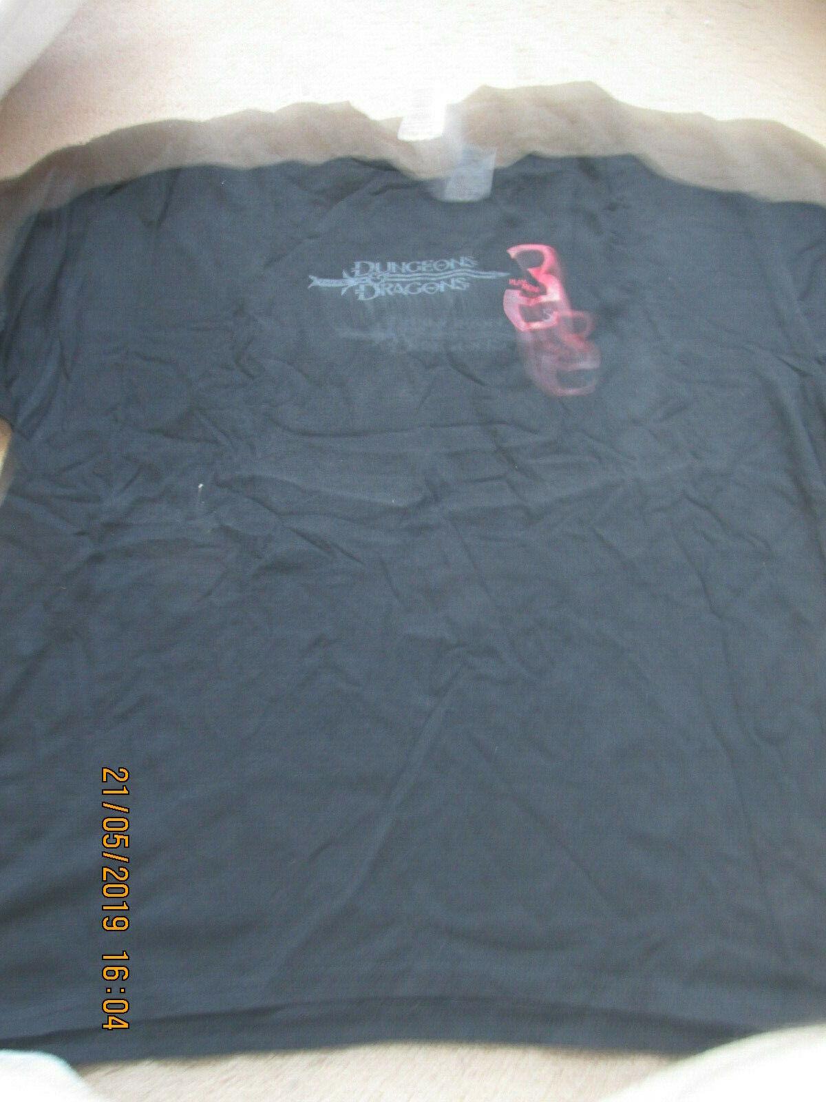 Dungeons DRAGONS WOTC 3.5E Pit Fiend En Espalda camiseta Negro XL