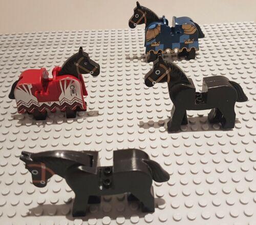 GENUINE Lego Various Animals Bundle Brown Horse Black Horse Skeleton Horse Camel