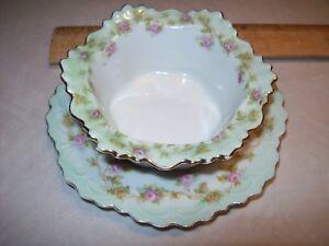 Vintage-Austrian-M-Z-fine-china-Austria-custard-cup-with-saucer-EUC