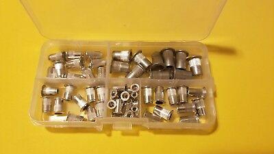 Pack of 100 6-32 Aluminum Flange Nutserts Rivet Nut Rivnut Nutsert SAE Standard