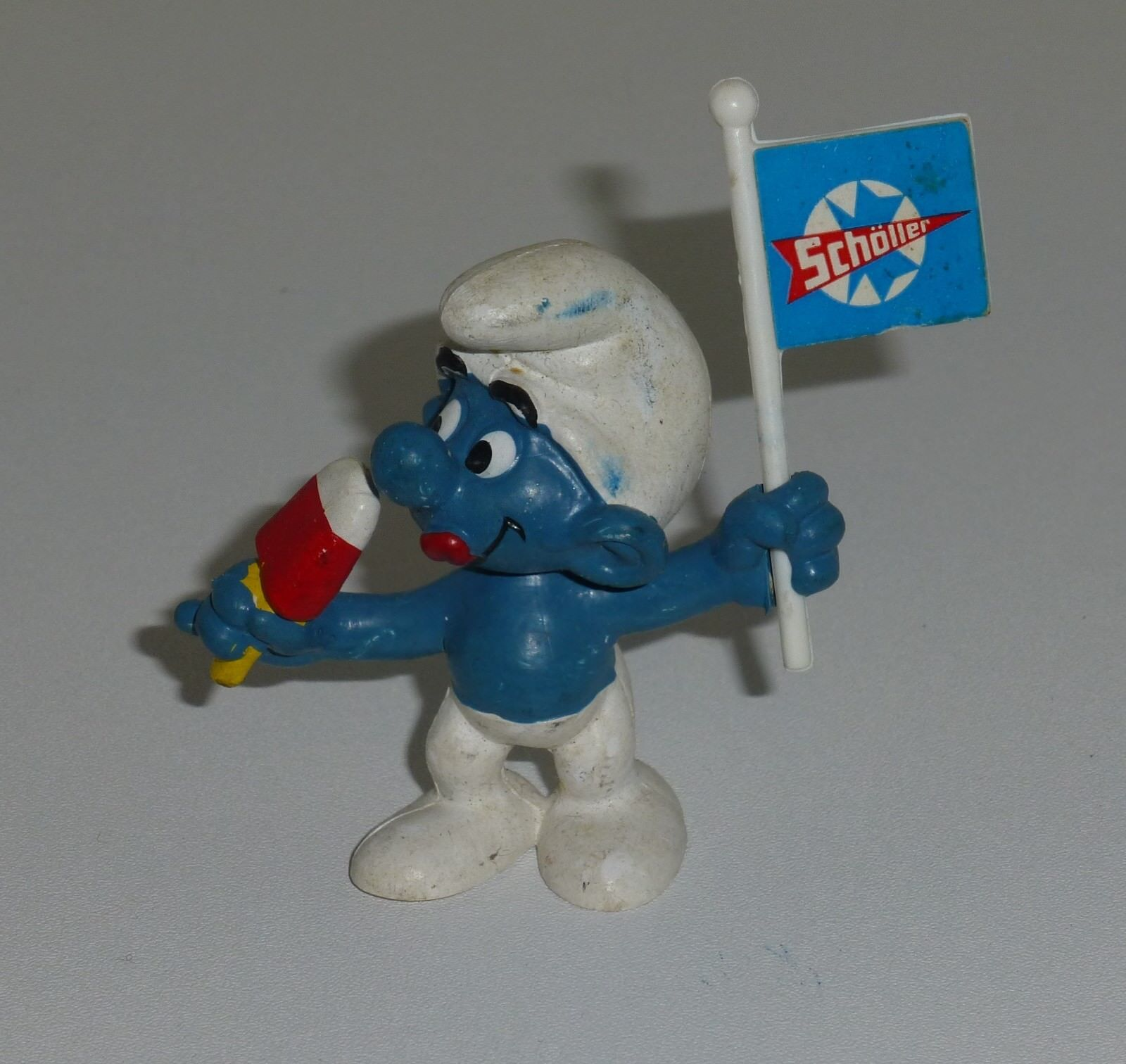 Figurine Schtroumpf   20053 - PROMO scholler  - TBE (Smurf Puffi Schlumpfe)