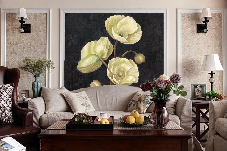 3D Drei Rosen Enge blumen 654 Fototapeten Wandbild Fototapete BildTapete Familie