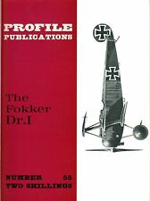 FOKKER Dr.I: PROFILE #55/ 5 ADDED PAGES+A3 CUTAWAY+GEN.ARR./ NEW-PRINT FACSIMILE
