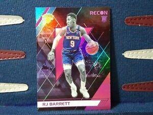RJ Barrett RC 2019-20 Chronicles Recon Pink SP #290 Rookie Card New York Knicks