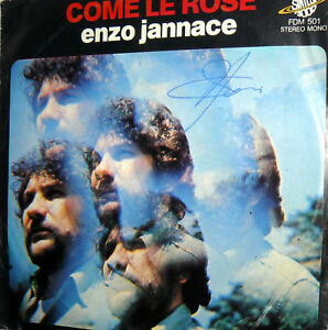 AUTOGRAFO-ENZO-JANNACE-7-034-COME-LE-ROSE-LOVE-IN-DISCOTECA-1978-ITALY