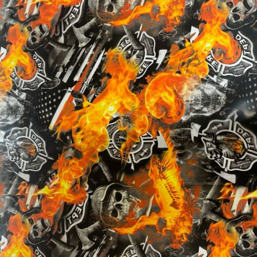 Hydrographic film Firefighter skulls hydro dip dipping 7/'