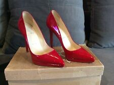 Christian Louboutin Pigalle Plato 120 Red Patent Calf Pumps Euro 38 / US 7.5