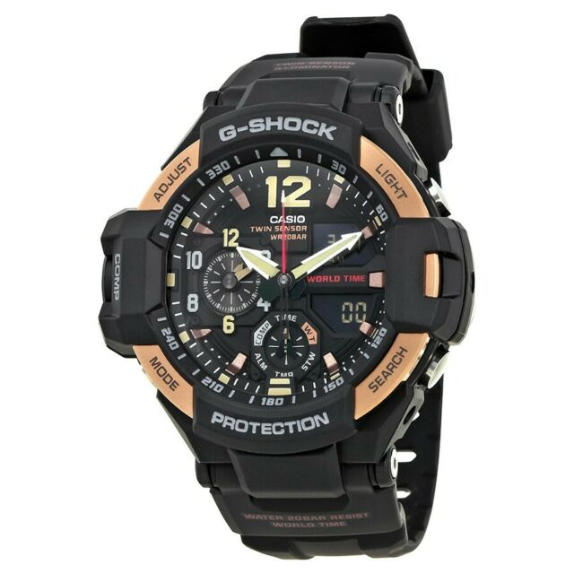 6bb4346195d2 NEW MEN'S CASIO G-SHOCK GA-1100RG-1A SKY COCKPIT GRAVITYMASTER WATCH WITH