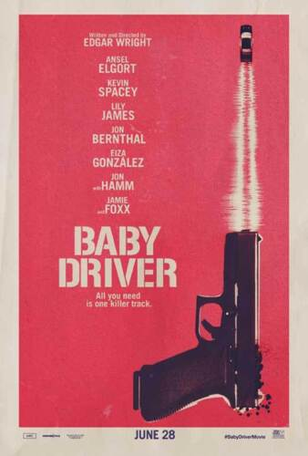 """27x40/"""" Theater Size Kevin Spacey Licensed-NEW-USA BABY DRIVER Poster B"""