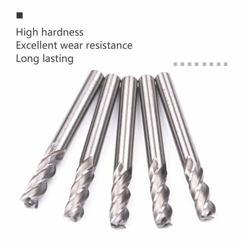 "6Pcs 4 Flute End Mill Cutter 1//4/"" x1//4/"" HSS CNC Straight Shank Drill Bit Tool"