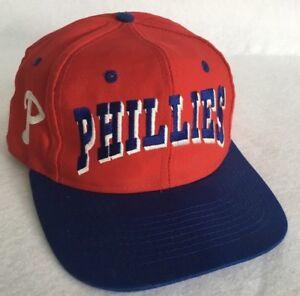 huge selection of 4fd80 f2546 Image is loading NEW-Vintage-Retro-Philadelphia-Phillies-Baseball-Cap- Snapback-
