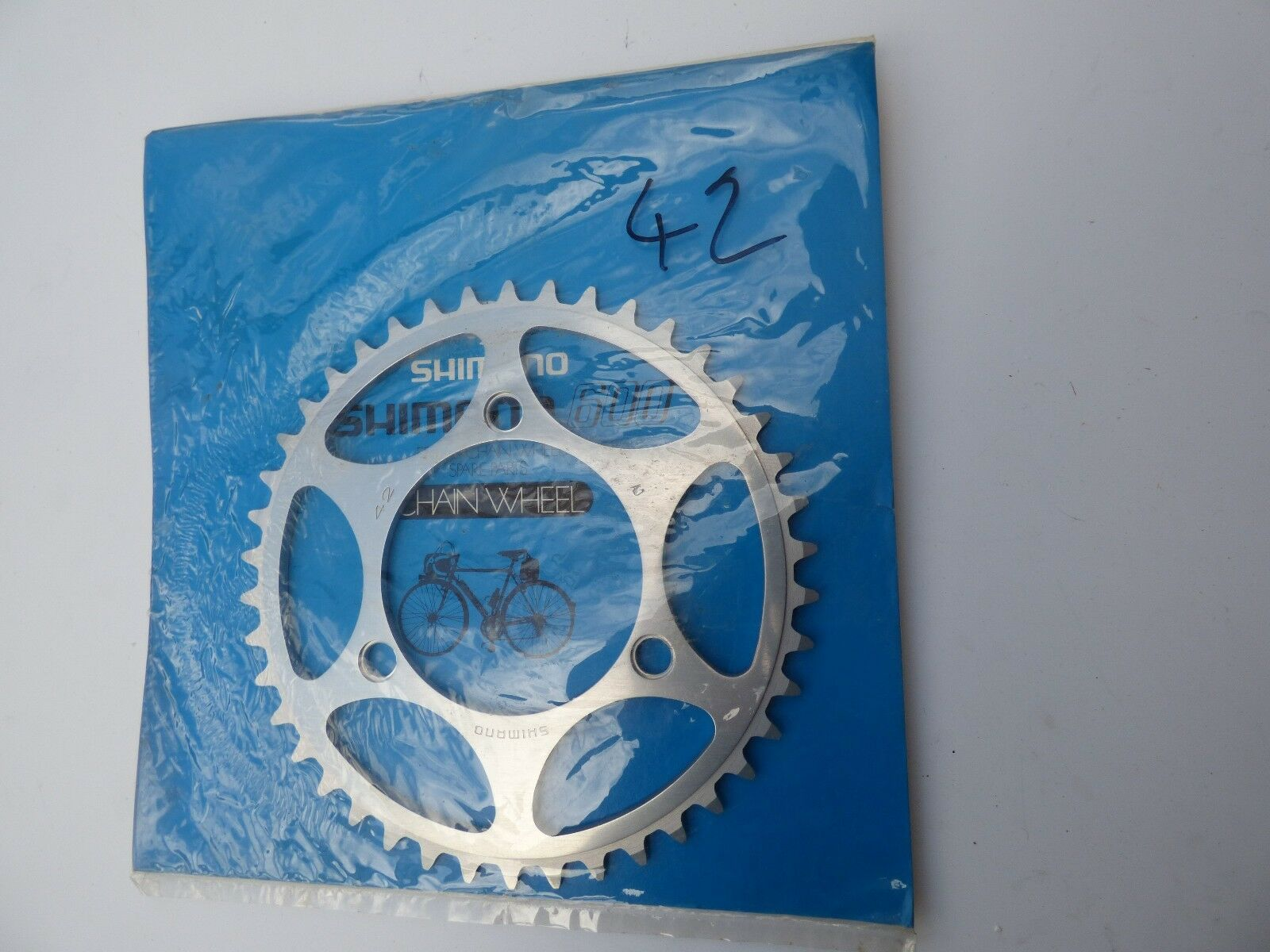 SHIMANO EARLY 600 3-PIN CHAINRING - 42 T - 95 BCD - NOS