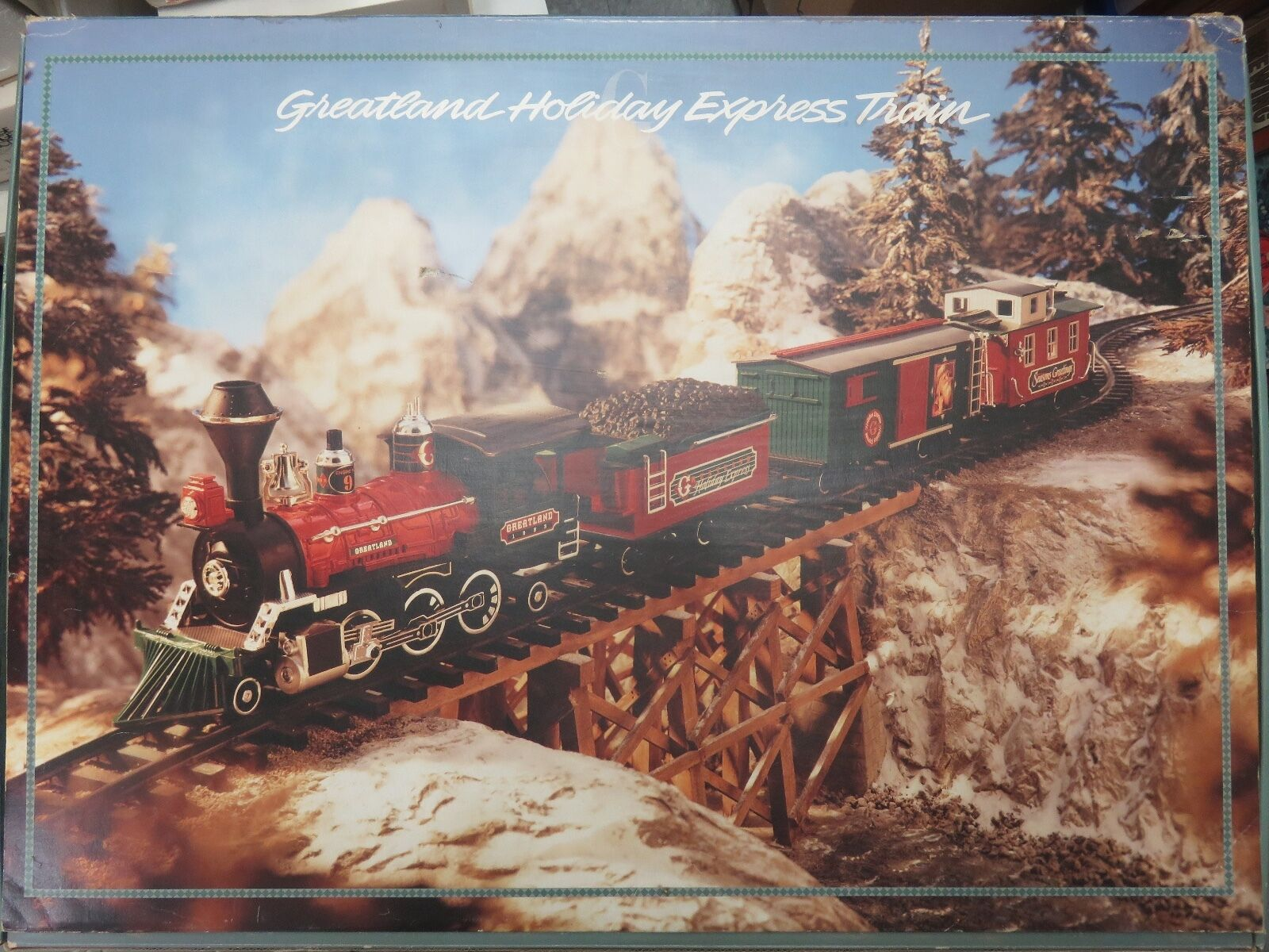1994 GreatLand Holiday Express -G Gage New Bright Train Stkonster Set