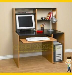 Student Computer Desk With Hutch Book Shelf Cabinet Home