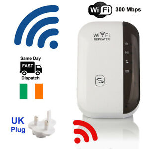 300Mbps-Wireless-Wifi-Repeater-Booster-Bridge-WPS-Signal-Extender-UK-Plug