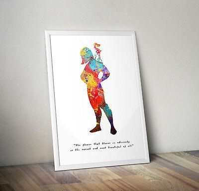 Peter Pan inspired poster print wall art gift merchandise disney Neverland map